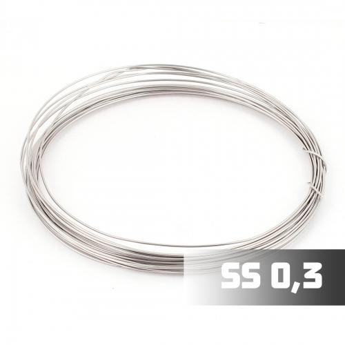 Проволока Нержавеющая сталь 316L 0,3 мм, 1м