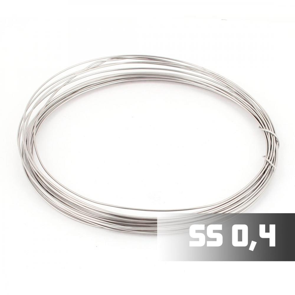 Проволока Нержавеющая сталь 316L 0,4 мм, 1м