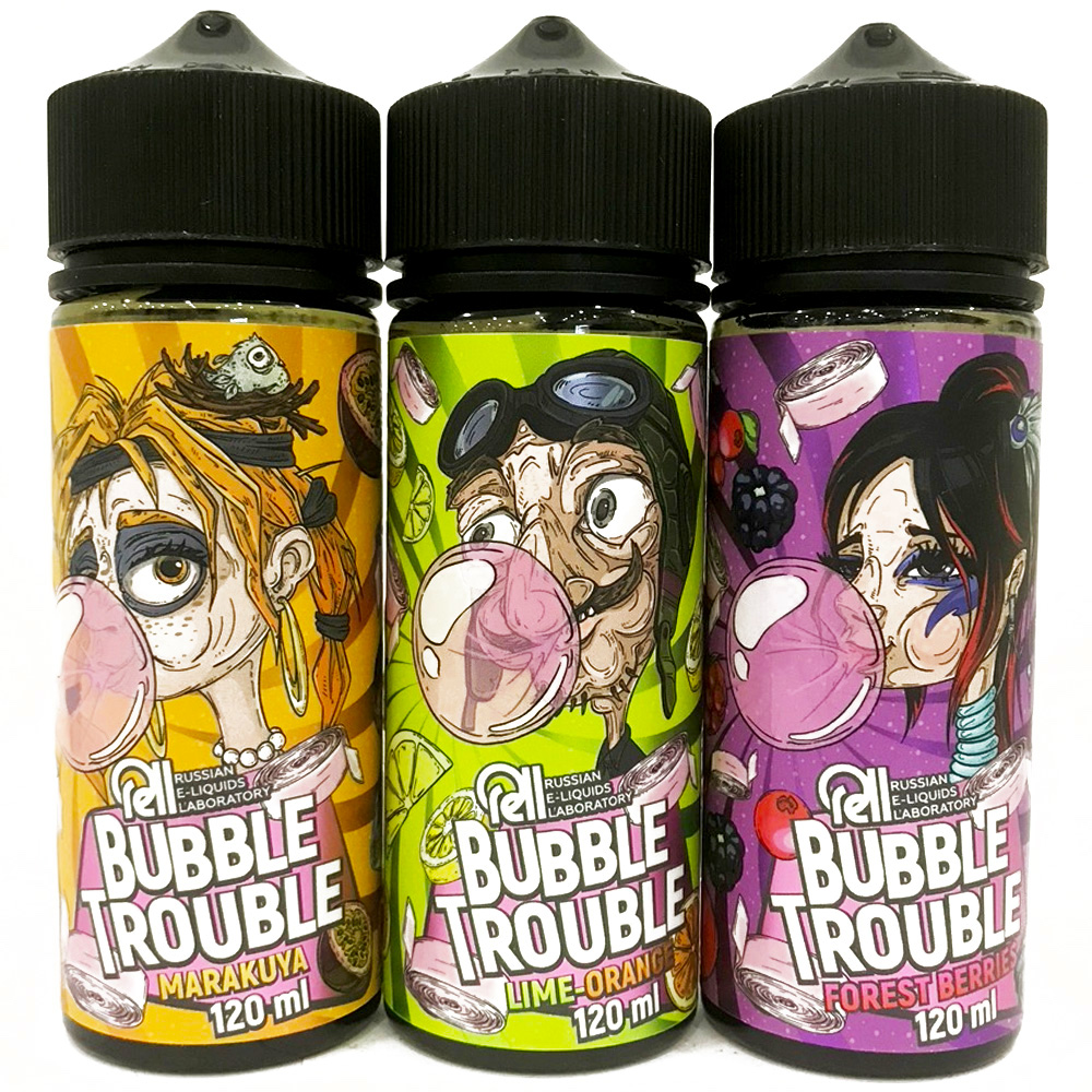 Жидкость BUBBLE TROUBLE, 120мл, 3мг